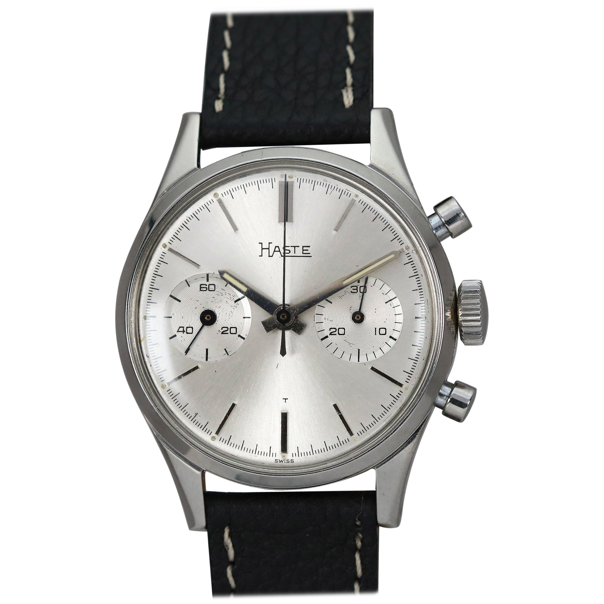 Haste Stainless Steel Chronograph Manual Wristwatch, circa 1960s