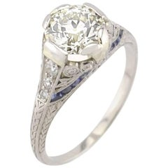 Edwardian Old European Cut 1.54 Carat GIA Certified Diamond Engagement Ring