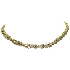 Yellow Gold and Diamond Necklace, Fleurette Design