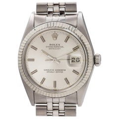 Rolex White Gold Stainless Steel Datejust Automatic Wristwatch, circa 1969