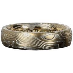 Greg Holland Wood Eye Metal Mokume Gane Ring