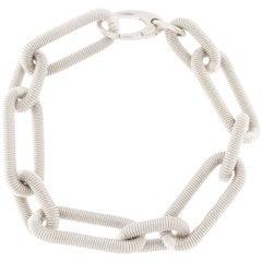 Jona Sterling Silver Twisted Wire Link Chain Bracelet