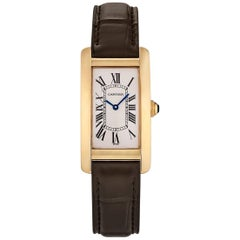 Cartier Yellow Gold Vintage Tank Americaine Wristwatch Ref 1720