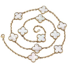 Van Cleef & Arpels Alhambra Gold and Mother-of-Pearl Necklace
