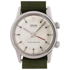 Tudor Stainless Steel Advisor Alarm Manual Wristwatch Ref 10050, circa 1982