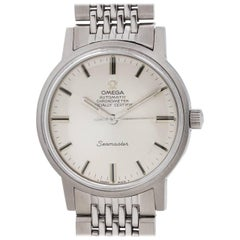 Omega Stainless Steel Chronometer Certified Seamaster Wristwatch, circa 1968