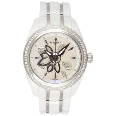 Perrelet ladies White Ceramic Diamond Mother-of-Pearl Dial Automatic wristwatch