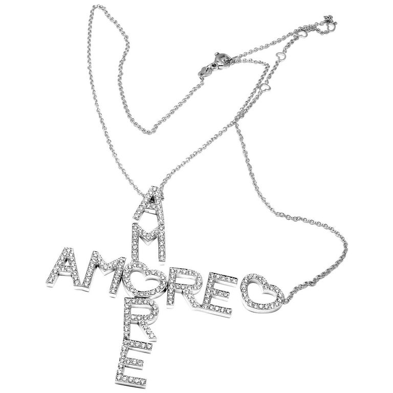 Pasquale Bruni Amore 5.02 Carat Diamond White Gold Pendant Necklace