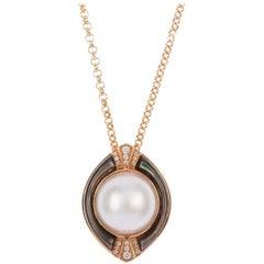 Mabe Pearl Diamond Pendant