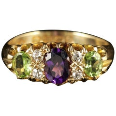 Antique Suffragette Ring in 18 Carat Gold Dated Birmingham, 1913