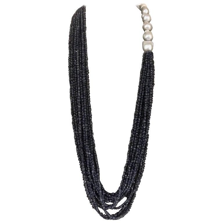 Baroque Pearls and Iolite Necklace