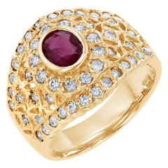 1.60 Carat Ruby Diamond  Ring