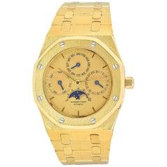 Audemars Piguet Yellow Gold Royal Oak Quantieme Perpetual Calendar Wristwatch