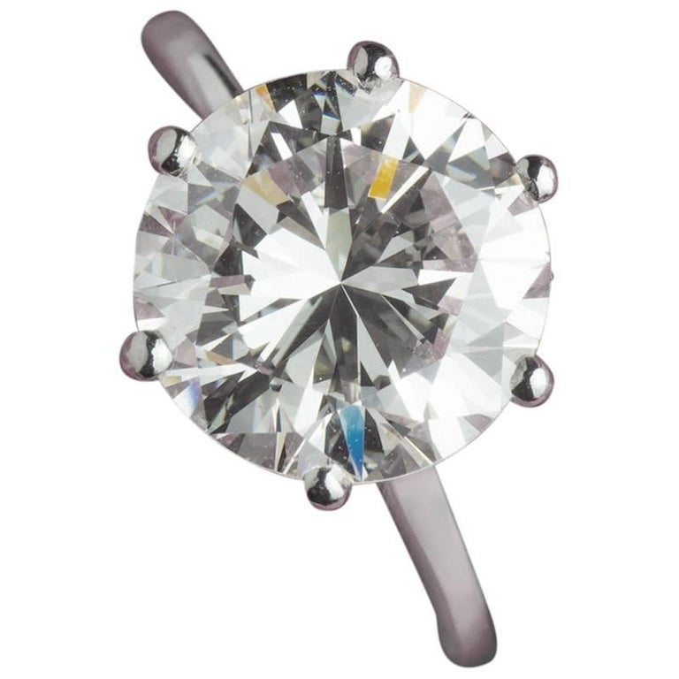 GIA Certified 4.02 Carat Diamond Engagement Ring