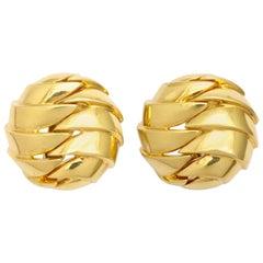 Tiffany & Co. Gold Woven Clip-on Earrings
