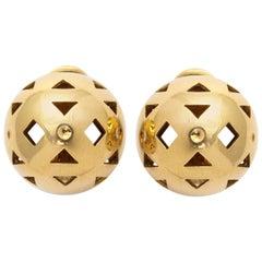 Bulgari Gold Dome Clip-on Earrings