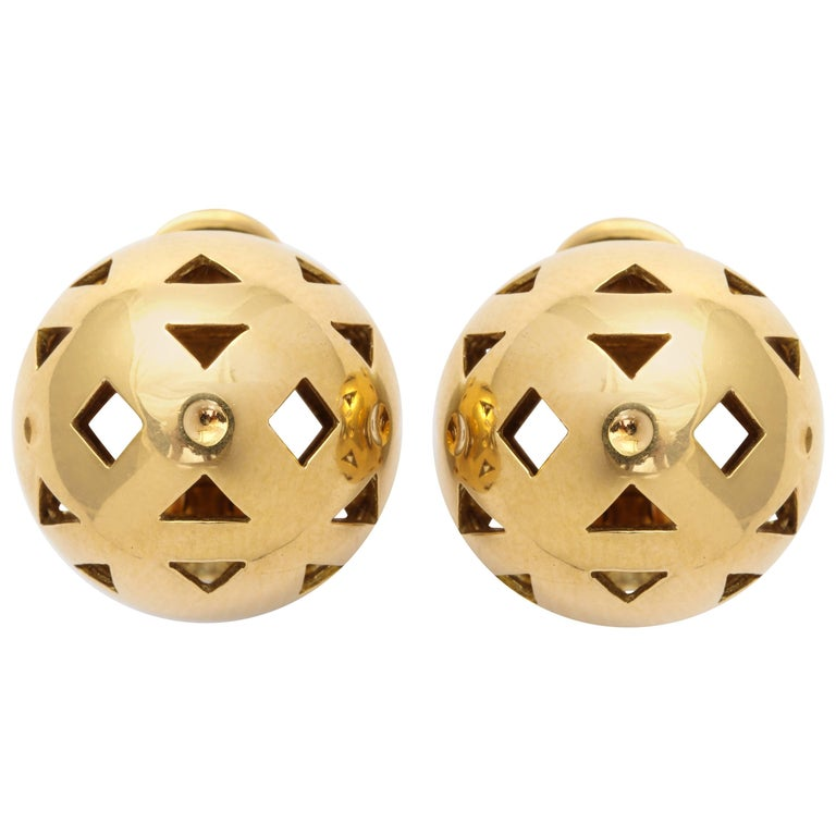 Bulgari Gold Dome Clip-on Earrings