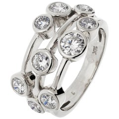 White Gold 1.50 Carat Contemporary Style Diamond Ring