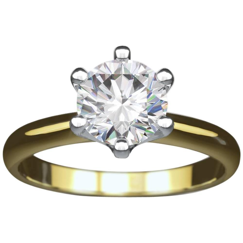 white or yellow gold 1 carat round diamond tiffany u0026 co style engagement ring 1