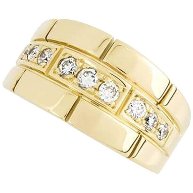 Cartier Yellow Gold and Diamond Dress Ring For Sale