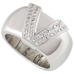 Versace White Gold Diamond Ring