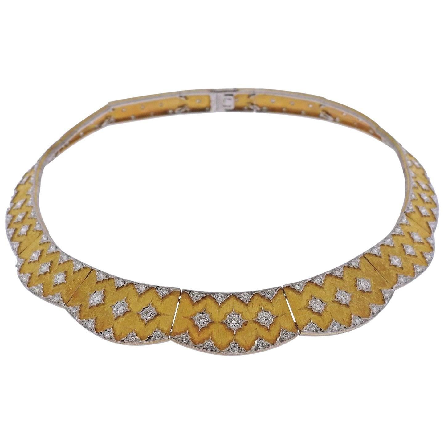 Important Buccellati Diamond Gold Necklace