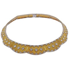 Important Buccellati Diamond Gold Necklace