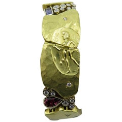 Seidengang Yellow Gold, Gem Set and Diamond Bracelet
