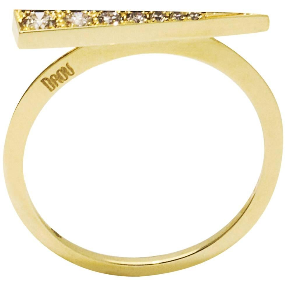 Daou Jewellery Gold & Champagne Diamond Spark Earrings qjheB