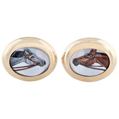 Essex Crystal and Gold Horse Cufflinks