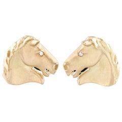Gold Horse Cufflinks