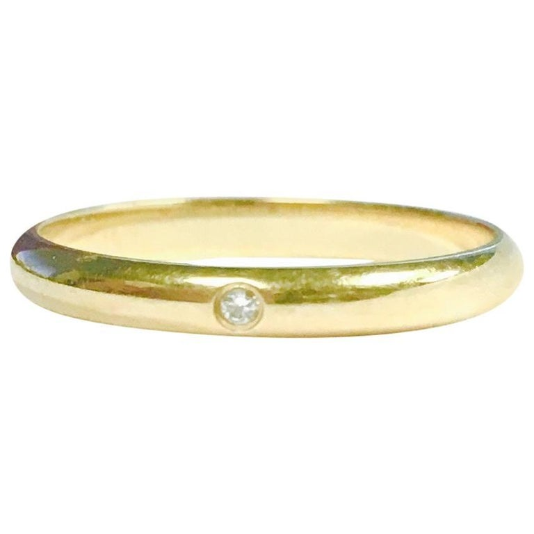 Cartier Diamond Yellow Gold Dome Band Ring 1