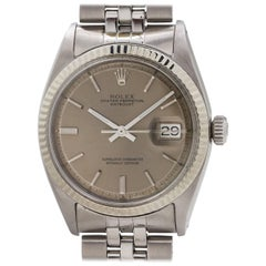 Rolex Stainless Steel & White Gold Datejust Automatic Wristwatch, circa 1968