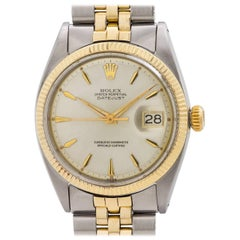 Rolex Yellow Gold Stainless Steel Datejust Automatic Wristwatch, circa 1960