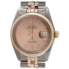 Rolex Rose Gold Stainless Steel Datejust Automatic Wristwatch, circa 1974