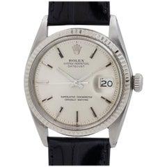 Rolex Yellow Gold Stainless Steel Datejust Wristwatch Ref 1601, circa 1963