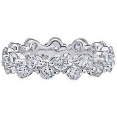 Diamond Gold Eternity Wedding Band Ring