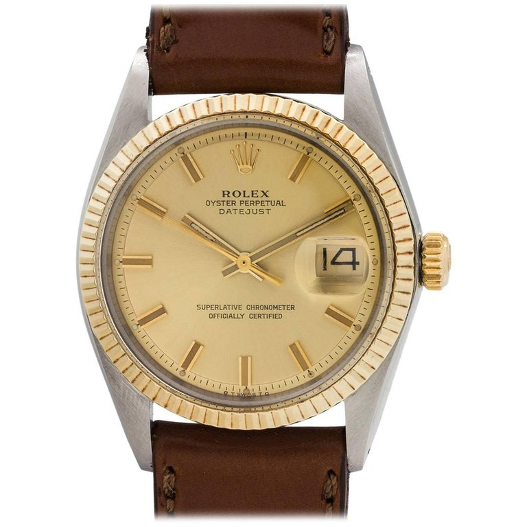 Rolex Yellow Gold Stainless Steel Datejust Automatic Wristwatch, circa 1973 1