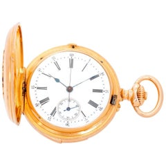 Russel & Fils Retailed by J. F. Bautte & Co. Yellow Gold Pocket Watch, c1877