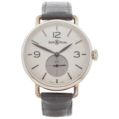 Bell and Ross Sterling Silver WWI Argentium Opalin Manual Wristwatch, 2010s