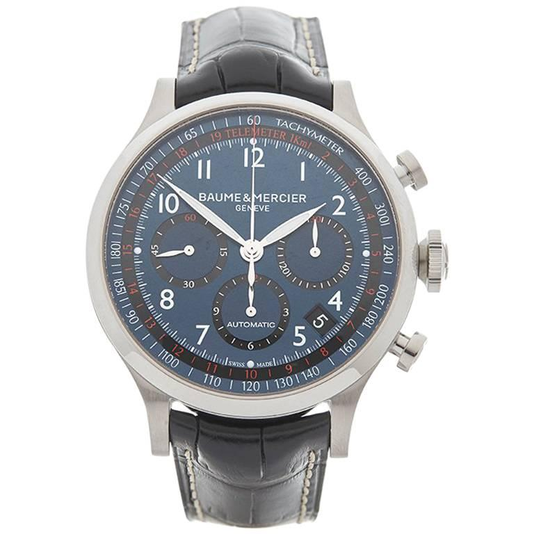 Baume and Mercier Stainless Steel Capeland Chronograph Automatic Wristwatch