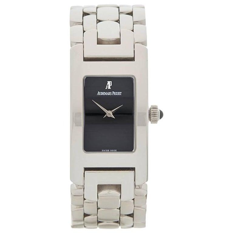 Audemars Piguet Ladies White Gold Promesse Quartz Wristwatch, 2010s