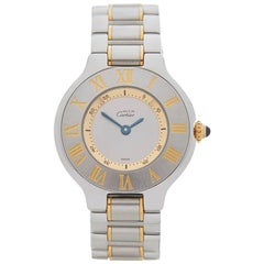 Cartier Ladies Yellow Gold Stainless Steel Must de Cartier 21 Quartz Wristwatch