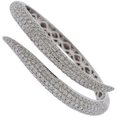 Roberto Coin Diamond Gold Cobra Snake Bangle Bracelet