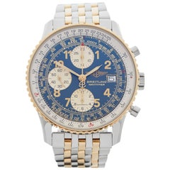 Breitling Yellow Gold Stainless Steel Navitimer Automatic Wristwatch, 2000