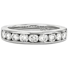 Tiffany & Co. Platinum Diamond Channel Set Band