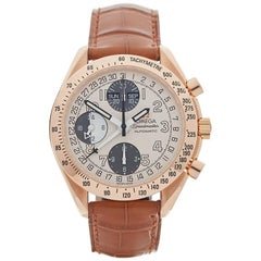 Omega Rose Gold Speedmaster Automatic Wristwatch Ref 1750084, 1999
