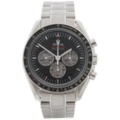 Omega Stainless Steel Speedmaster Apollo Soyuz 35th Anniversary Wristwatch