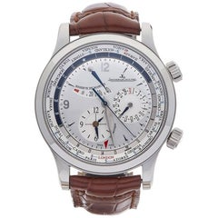Jaeger-LeCoultre Stainless Steel Master Control Geographic Automatic Wristwatch