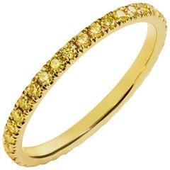 Fancy Yellow Diamond Eternity Wedding Band
